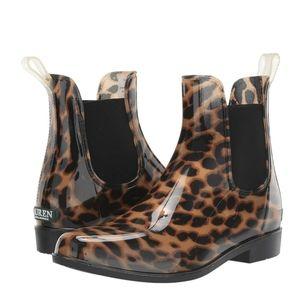 🆕 RALPH LAUREN Tally Leopard Short Rain Booties 6